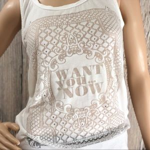 Bershka White See-Thru Tank Top